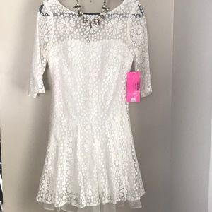 NWT $178 Betsey Johnson floral lace dress